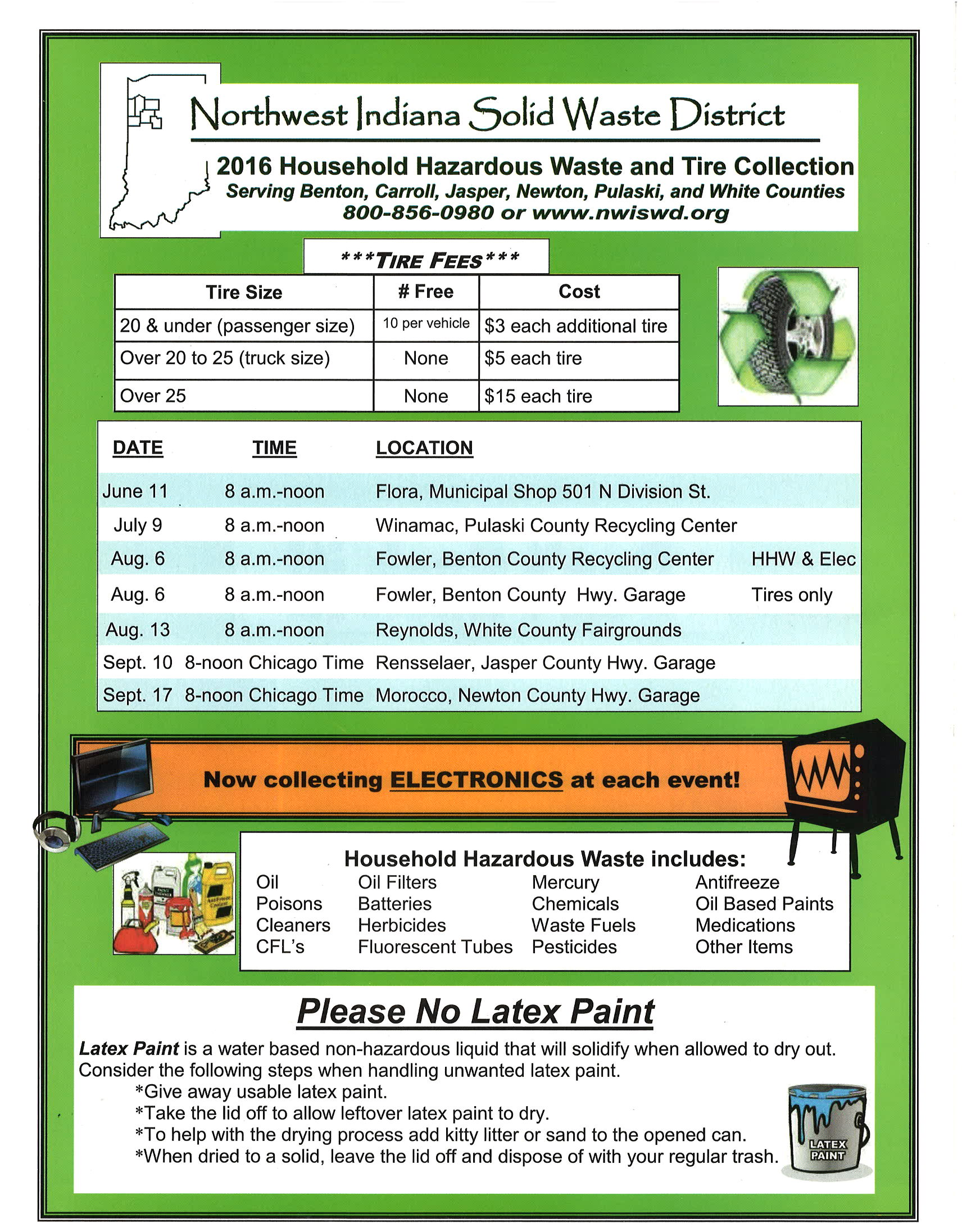 2016 Household Hazardous Waste and Tire Collection