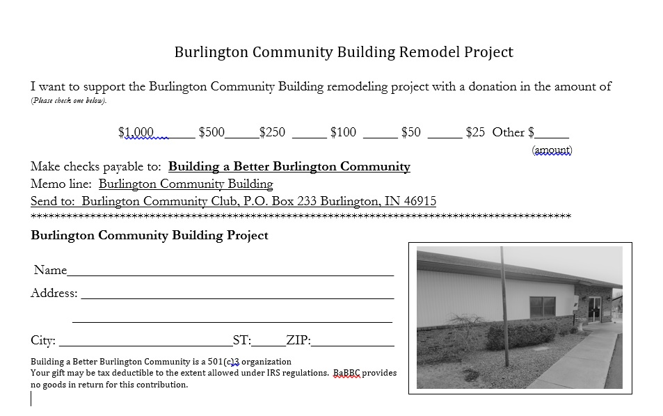 Burlington Community Building Remodel Project